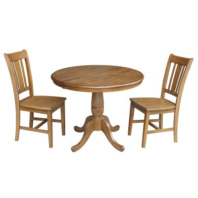 Politte 3 Piece Extendable Dining Set Finish: Pecan