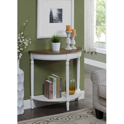 Carlisle Console Table Color: Driftwood Top/White Frame