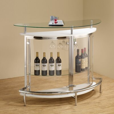 Fairborn Bar with Wine Storage Color: White