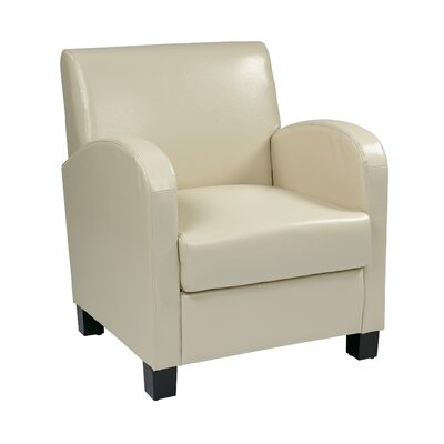 Goodland Eco Leather Club Chair Color: Cream