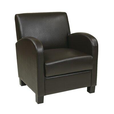 Goodland Eco Leather Club Chair Color: Espresso