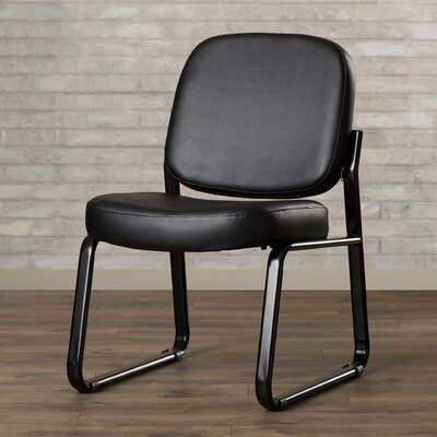 Payakumbuh Armless Guest / Reception Chair Seat Color: Black