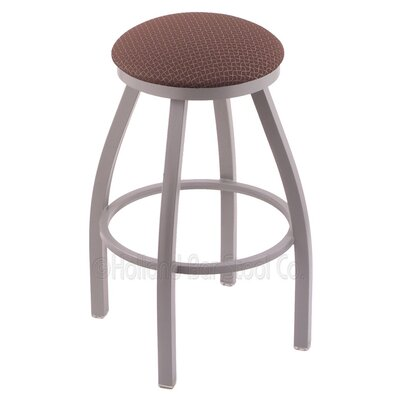 "Cragin 30"" Swivel Bar Stool Upholstery: Axis Willow, Finish: Anodized Nickel"