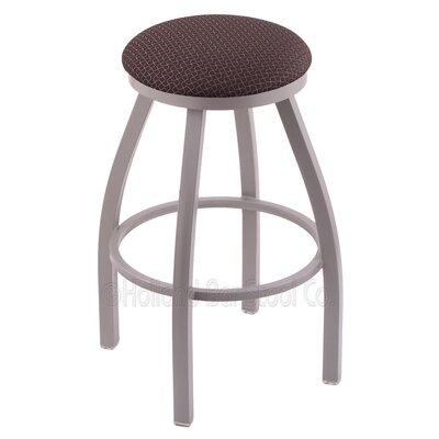"Cragin 30"" Swivel Bar Stool Upholstery: Axis Truffle, Finish: Anodized Nickel"