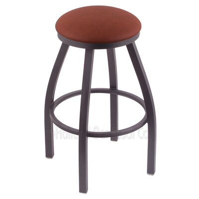 "Cragin 36"" Swivel Bar Stool Upholstery: Rein Adobe, Finish: Pewter"