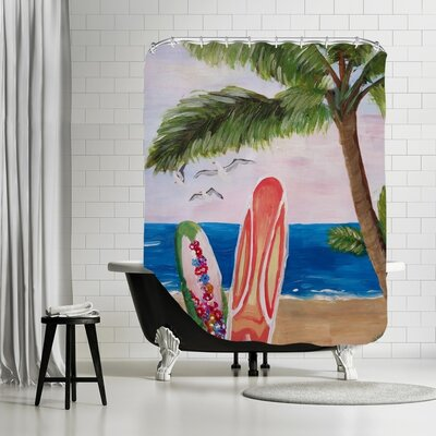Surfboards Beach Shower Curtain