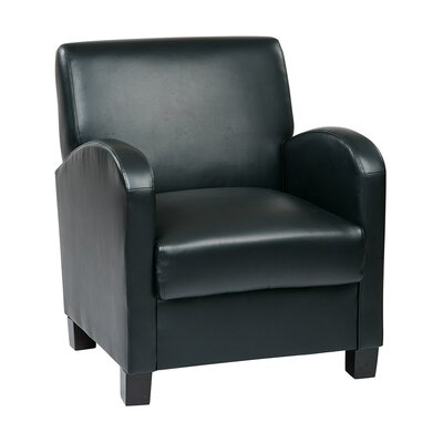 Goodland Eco Leather Club Chair Color: Black Eco Leather