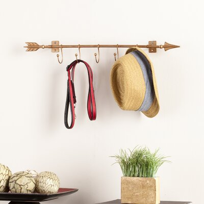 Dority Wall Mount Arrow with Hooks