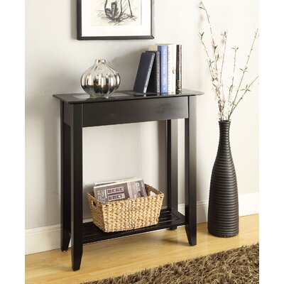 Melrose Hall Table Color: Black