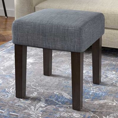 Sanroman Square Accent Stool Color: Blue Gray