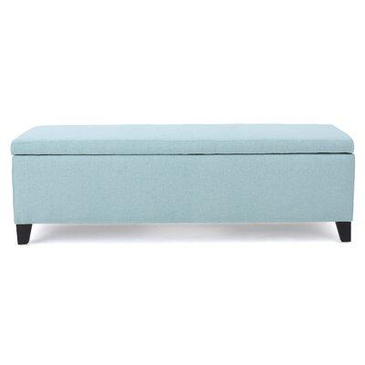 Schmit Upholstered Storage Bench Upholstery: Light Blue