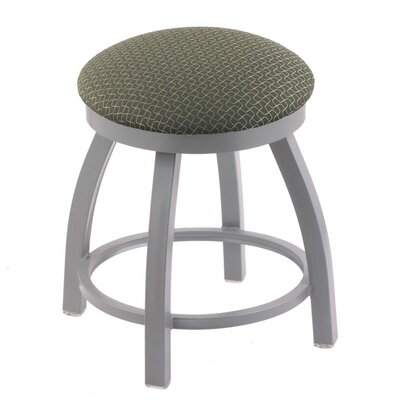 """Cragin 18"""" Swivel Accent Stool with Cushion Frame Color: Anodized Nickel, Seat Color: Axis Grove"""