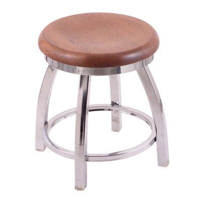Cragin Vanity Stool Seat Finish: Medium Oak, Base Finish: Chrome