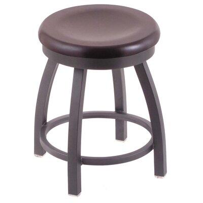 Cragin Vanity Stool Seat Finish: Dark Cherry Maple, Base Finish: Pewter