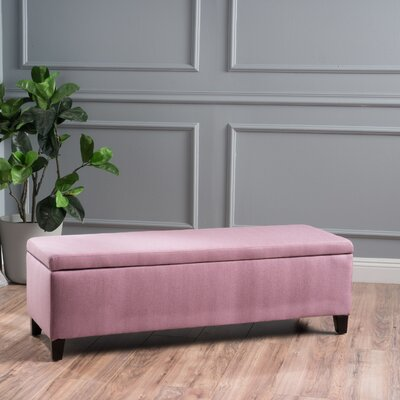 Schmit Upholstered Storage Bench Upholstery: Light Lavender