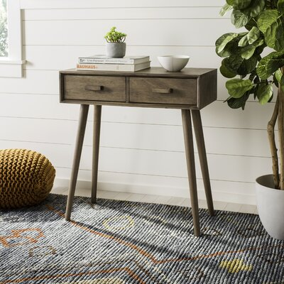 Beem 2 Drawer Console Table Color: Brown