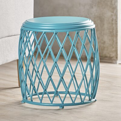 Ranallo Indoor Iron End Table Color: Teal