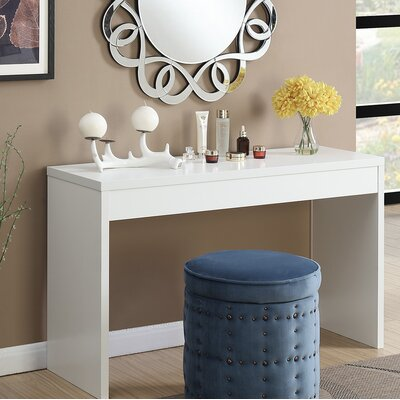 Haught Console Table Color: White