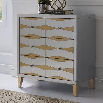 Palombo Mirror 3 Drawer Accent Chest