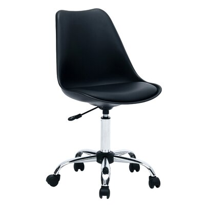 Gosnell Adjustable Cushioned Office Chair Color: Black
