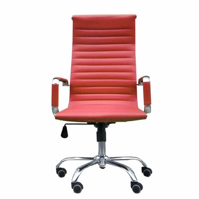 Gean High Back Ergonomic Office Chair Color: Red