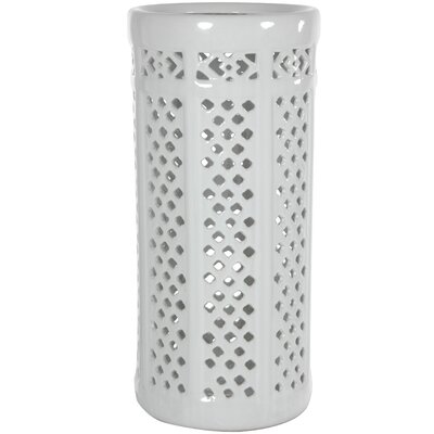 Kelsey Carved Lattice Decorative Umbrella Stand