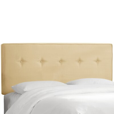 Button Tufted Upholstered Panel Headboard Size: Full, Upholstery: Buckwheat