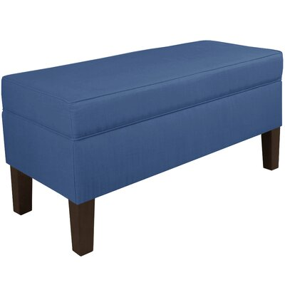 Upholstered Storage Bench Color: Blue