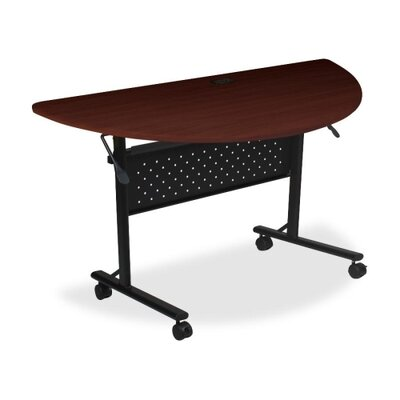 Ehmann Flipper Training Table with Wheels Tabletop Finish: Mahogany, Size: 5'' H x 29.5'' W x 51.2'' D