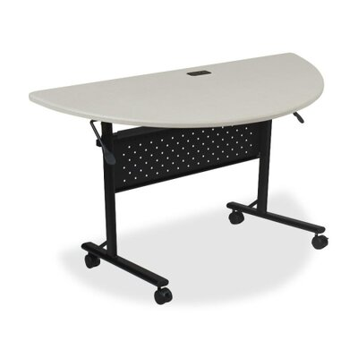 Ehmann Flipper Training Table with Wheels Tabletop Finish: Silver, Size: 5'' H x 29.5'' W x 51.2'' D
