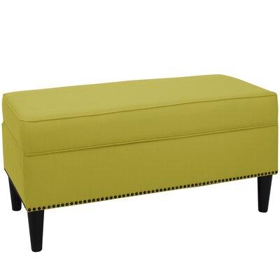 Whiteway Upholstered Storage Bench Color: Leaf