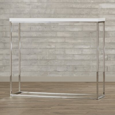 Mariotti Studio Console Table Color: White Lacquer