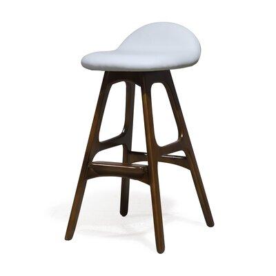 "Chau 29"" Bar Stool Upholstery: White"