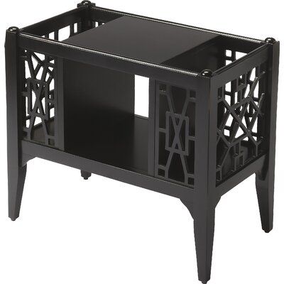 Kynthia Chippendale Magazine Basket Color: Black Licorice