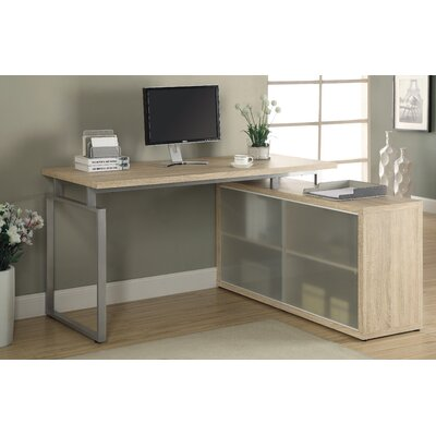 Beaudry L-Shaped Desk Finish: Natural