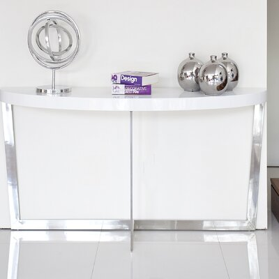 Coyer Console Table Color: White