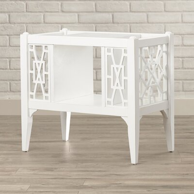 Kynthia Chippendale Magazine Basket Color: Cottage White