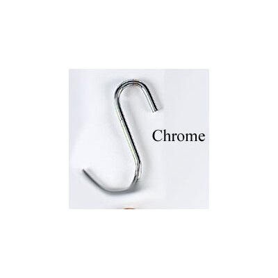 """Grid or """"S"""" Pot Hooks (4 pack) Color: Chrome-plated"""