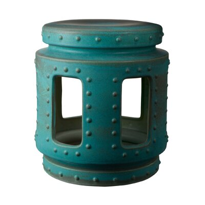 Robie Throne Stool Color: Copper Patina
