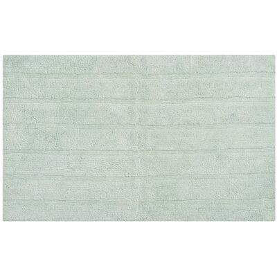 "Tauber Master Bath Rug Size: 2'3"" x 3'9"", Color: Aqua"
