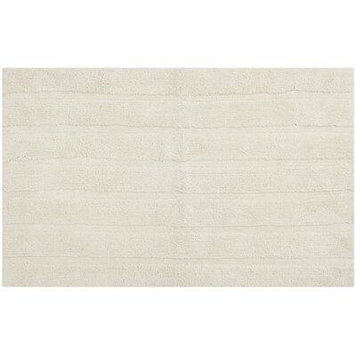 "Tauber Master Bath Rug Size: 2'3"" x 3'9"", Color: Vanilla"