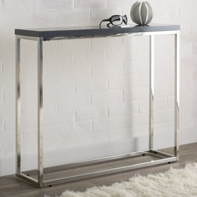 Mariotti Studio Console Table Color: Gray Lacquer