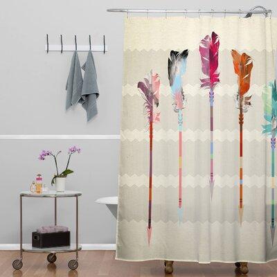 Emmanuel Follis Arrows Shower Curtain