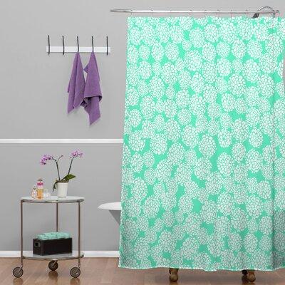 Dahlias Seafoam Shower Curtain