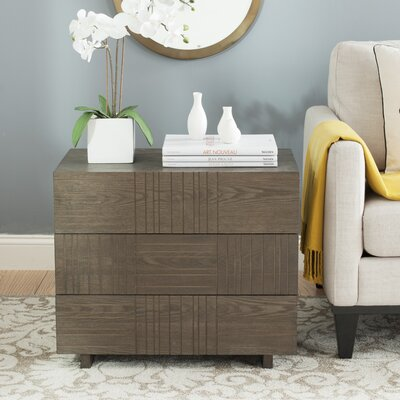 Funderburg 3 Drawer Accent Chest Color: Dark Brown