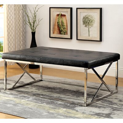 Solorio Upholstered Bench Upholstery Color: Black