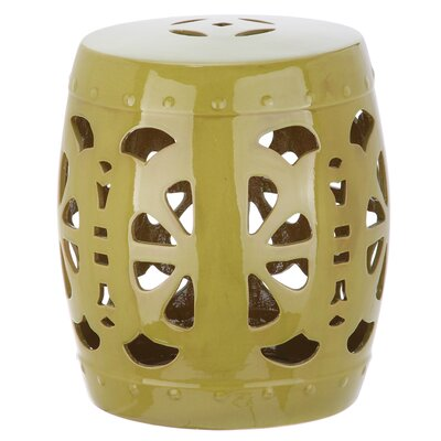 Moree Stencil Blossom Garden Stool Finish: Spring Green