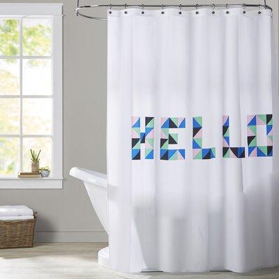 Ashlee Rae Hello Geo Shower Curtain