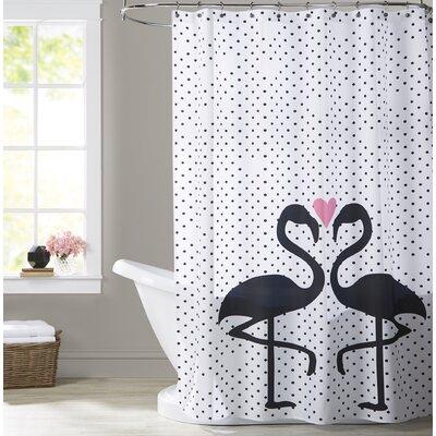 Ashlee Rae Flamingo Love Shower Curtain