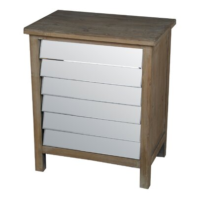 Clintwood 3 Drawer Mirrored Accent Chest